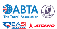abta bonded, atol holder, basi partner, atomic
