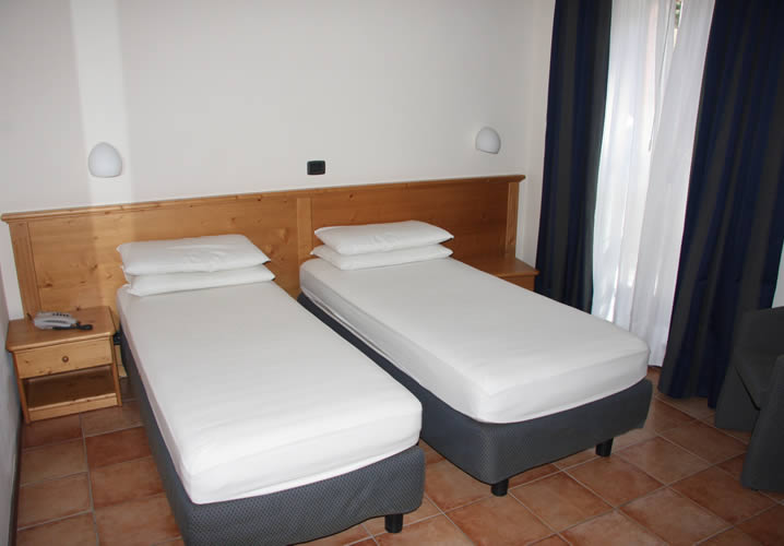 A typical bedroom in the Hotel Alpechiara