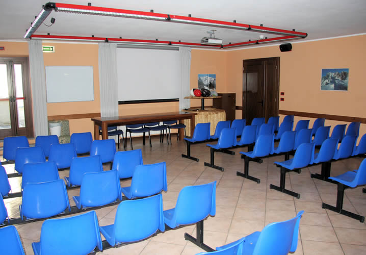 The mmeting room within the Foyer Don Bosco