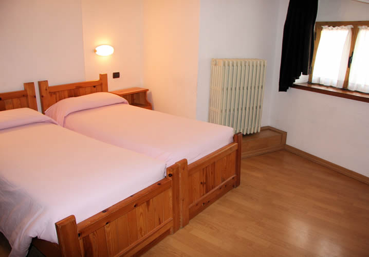 A typical bedroom in the Hotel Valdigne