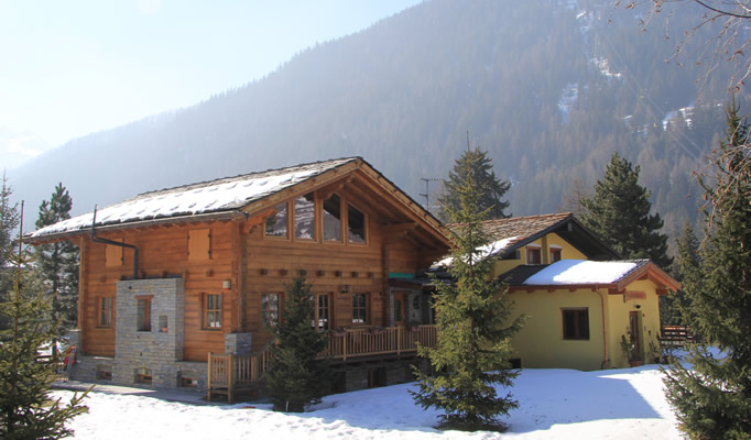 Exterior of the Chalet Alpina