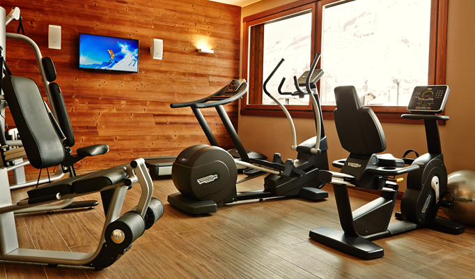 The fitness suite in the Nira Montana
