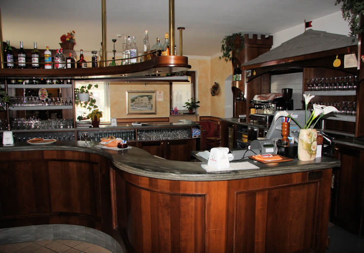 The bar area of the Hotel Chateau