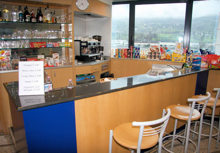The bar area in the Express