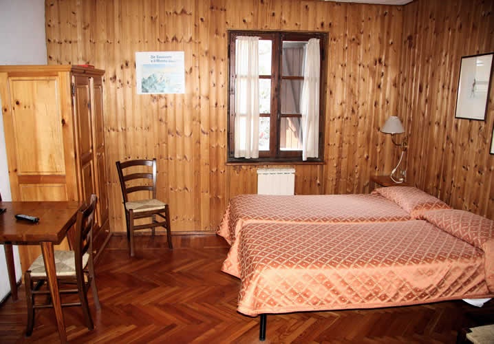 A typical bedroom in the Le Verger