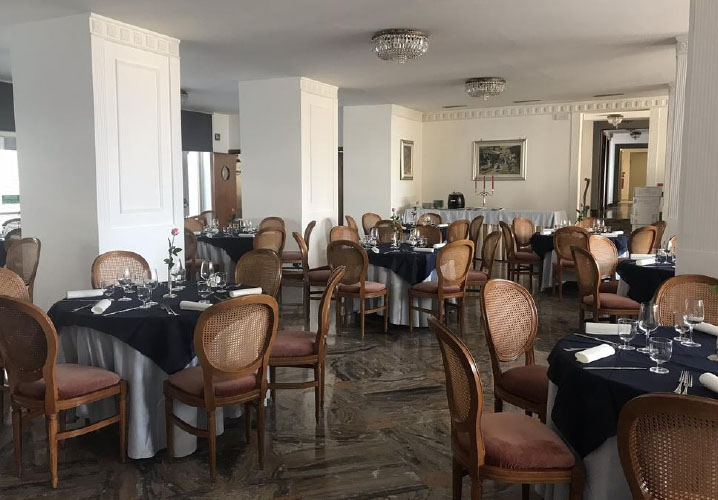 The dining area of the Hotel Miramonti