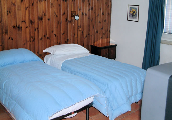 A typical bedroom within The Lodge