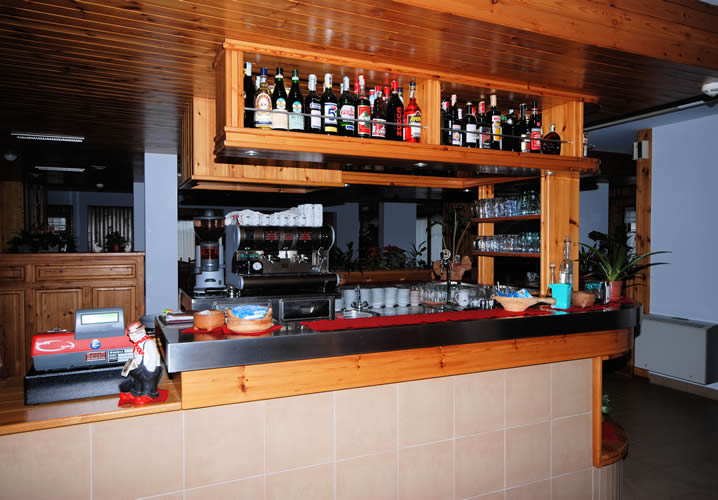 The bar area of the Hotel Valdotain