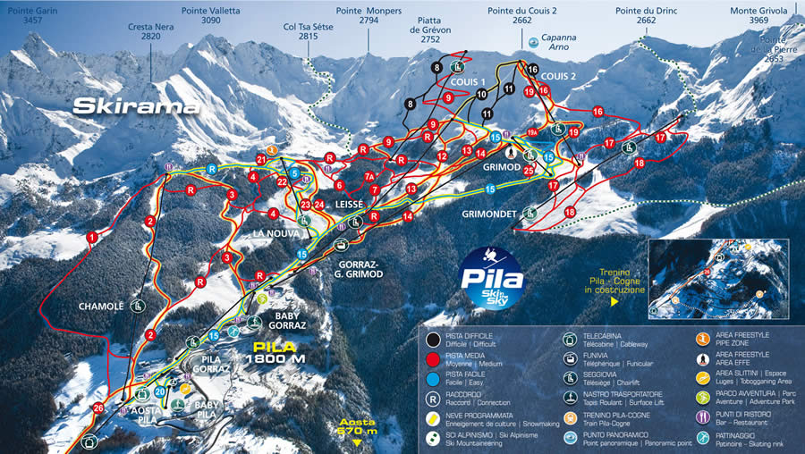 Aosta Pila Ski Resort Information Interski Snowsports Holidays