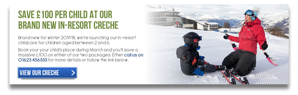 Save £100 On Our In-Resort Childcare for Winter 2017/18