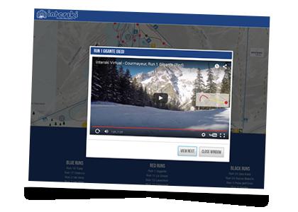 Virtual piste maps