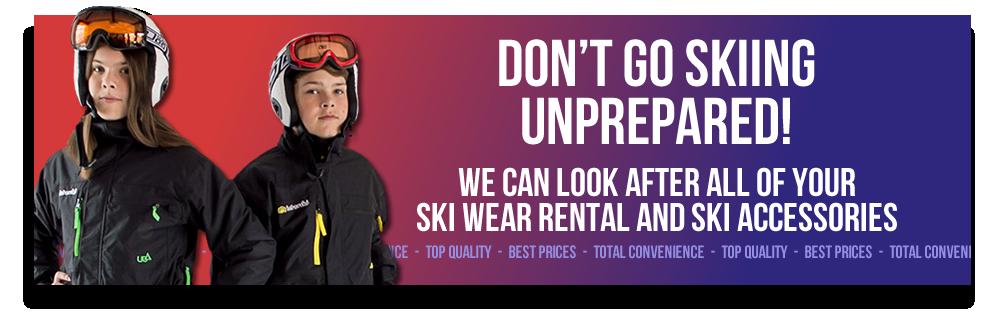 Don't Go Skiing Unprepared!