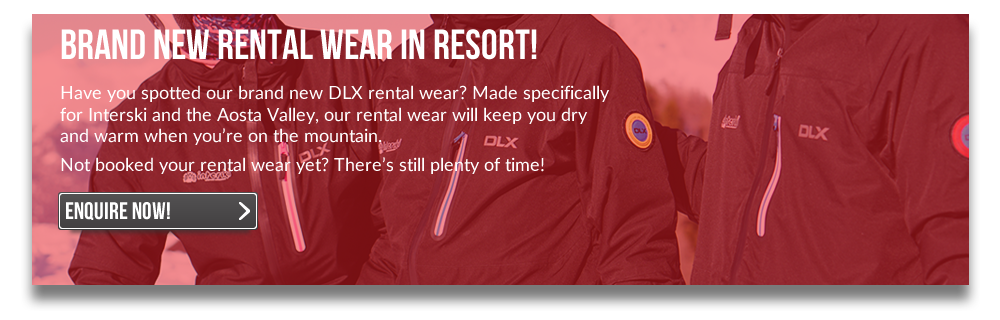 Brand new rental wear in resort!