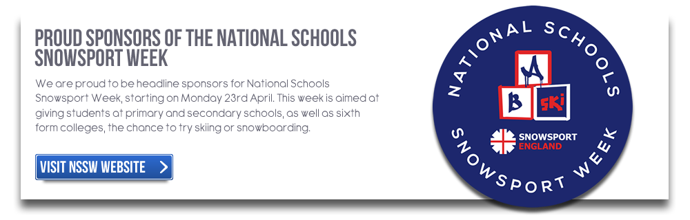 Proud sponsors of the National Schools Snowsport Week